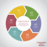 Circle elements for infographic. Business concept with 6 options, parts, steps or processes Stock Illustration