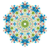 Circle ethno ornament. Vector illustration Royalty Free Stock Photography