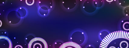Circle fantasy horizontal banner Stock Images