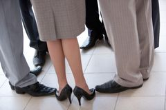 Circle of feet Royalty Free Stock Images