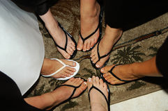 Circle of feet Stock Image