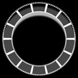 Circle filmstrip isolated with shadow for photography, multimedi. A concepts - Royalty free vector illustration Stock Photos