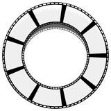Circle filmstrip isolated with shadow for photography, multimedi. A concepts - Royalty free vector illustration Royalty Free Stock Image