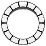 Circle filmstrip isolated with shadow for photography, multimedi. A concepts - Royalty free vector illustration Stock Images