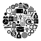 Circle from finance icons. Vector illustration Royalty Free Stock Image