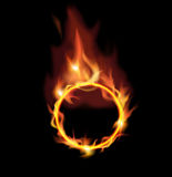 Circle of fire. Stock Image