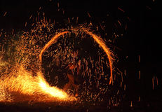 Circle of fire Royalty Free Stock Photography