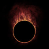 Circle of fire. Constructed in graphic-editor Stock Photography
