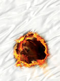 Circle of fire Royalty Free Stock Photo