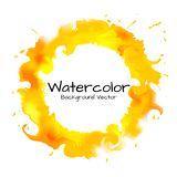 The circle fire abstract background watercolor painting. Royalty Free Stock Photo
