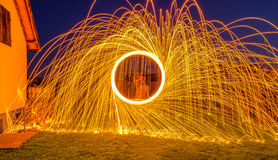 Circle of Fire Royalty Free Stock Photos
