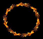 Circle of fire. Over black background Royalty Free Stock Photo