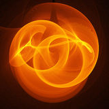 Circle fire rays. Abstract chaos circle fire rays on dark background Royalty Free Stock Images