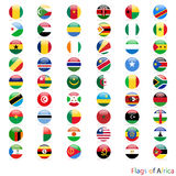 Circle of the flag Africa  Royalty Free Stock Images