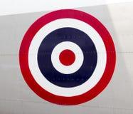 Circle Flag on Airplane Royalty Free Stock Photos
