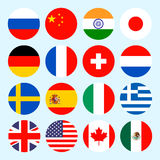 Circle flags vector of the world. Flags icons in Stock Photography