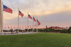Circle of Flags, Washington Monument Stock Photography