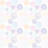 Circle flora line draw soft pastel pattern seamless design Stock Photo
