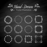 Circle floral borders Stock Images