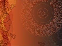 Circle Floral design (vector) Royalty Free Stock Photos