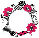 Circle Floral Frame Stock Photo