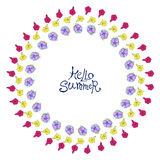 Circle floral frame Royalty Free Stock Photography