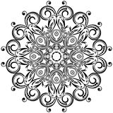 Circle floral ornament. Stock Photos