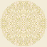 Circle floral ornament. Royalty Free Stock Image