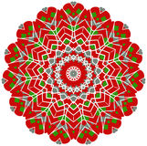 Circle floral ornament. Stock Photography