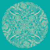Round floral ornament Royalty Free Stock Images