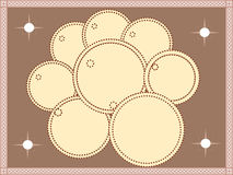 Circle flower. Beautiful dotted circles make together a flower with shining things in the corners Stock Photo