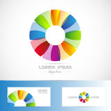 Circle flower colored logo stock illustration