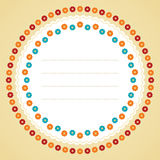 Circle flower frame. Vector illustration Stock Photography
