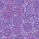 Circle Flower Group Seamless Pattern_eps Stock Photography