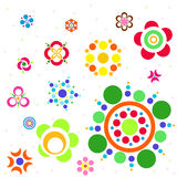 Circle Flower. Icon is element about flower for decoration artwork - Vector Stock Photos