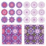 Circle flower inside seamless pattern royalty free illustration