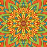 Circle flower mandala Royalty Free Stock Image