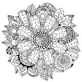 Circle flower ornament Royalty Free Stock Image