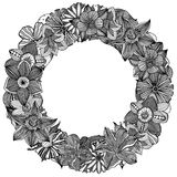 Circle flower ornament Stock Photography