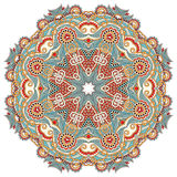 Circle flower ornament, ornamental round lace. Design Royalty Free Stock Images