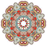 Circle flower ornament, ornamental round lace. Design, vector illustration Royalty Free Stock Image