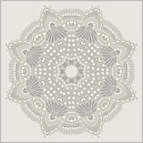 Circle flower ornament, ornamental round lace. Design, vector illustration Stock Photography