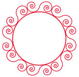 Circle flower pattern Royalty Free Stock Photography