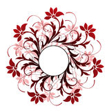 Circle and flower pattern Stock Image