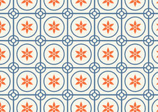Circle and Flower Pattern on Pastel Color Royalty Free Stock Image