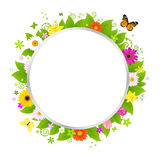 Circle With Flowers Royalty Free Stock Photo