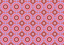 Circle flowers abstract pattern Stock Photo