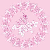Circle of flowers of wild rose. Vector Royalty Free Stock Photos