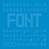 Circle Font Design, Pixel Alphabet Vector Royalty Free Stock Photo