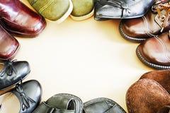 Circle of footwear Stock Photos